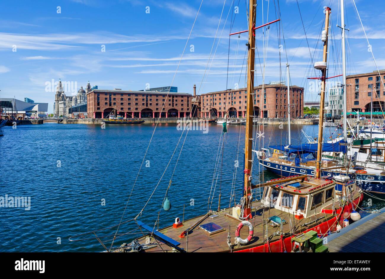 Albert Dock, Liverpool, Merseyside, Inglaterra, Reino Unido. Foto de stock