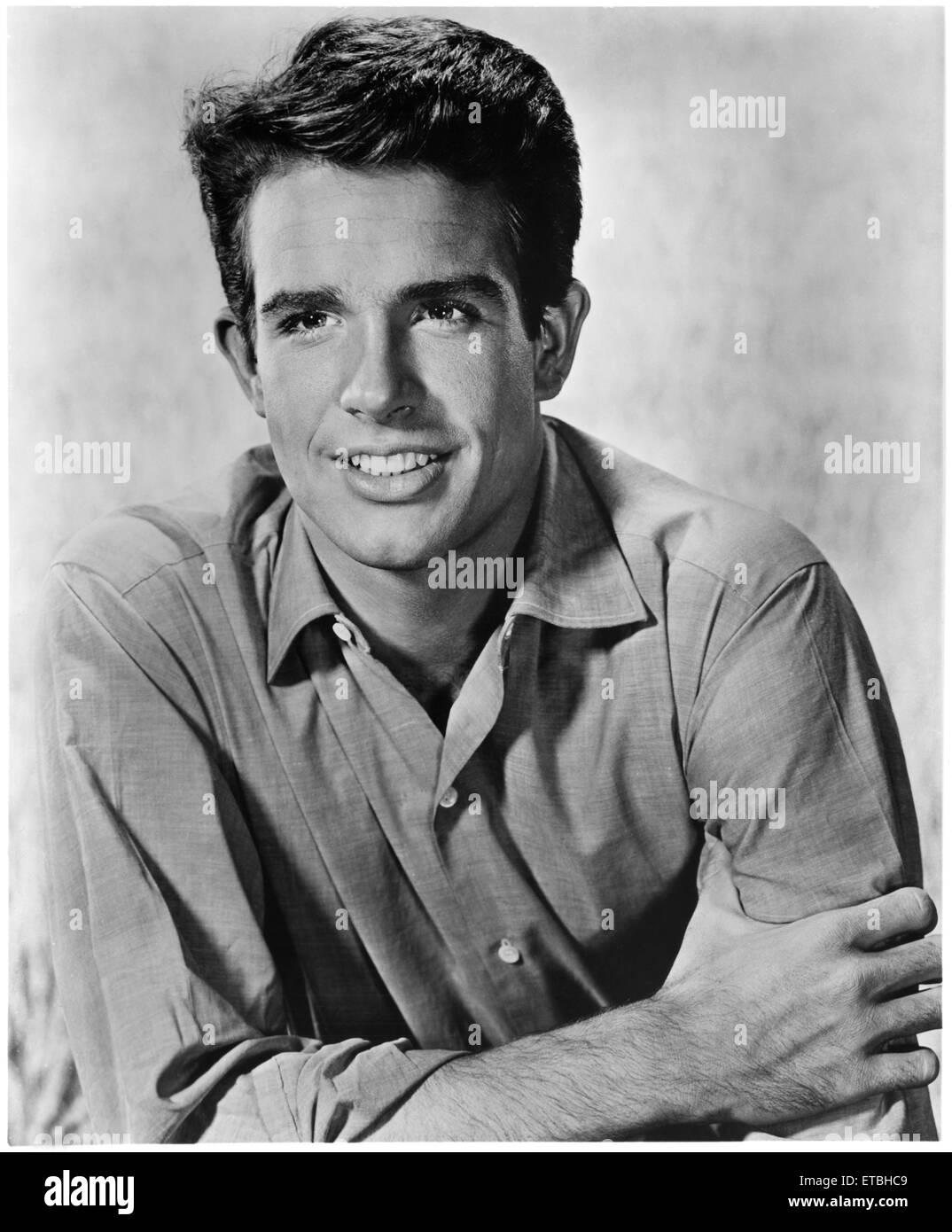 El actor Warren Beatty, Publicidad, Retrato, 1962 Foto de stock