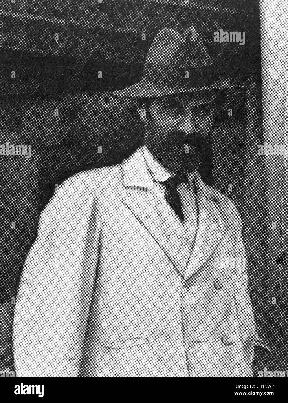 Roger Casement, circa 1916. Foto de stock