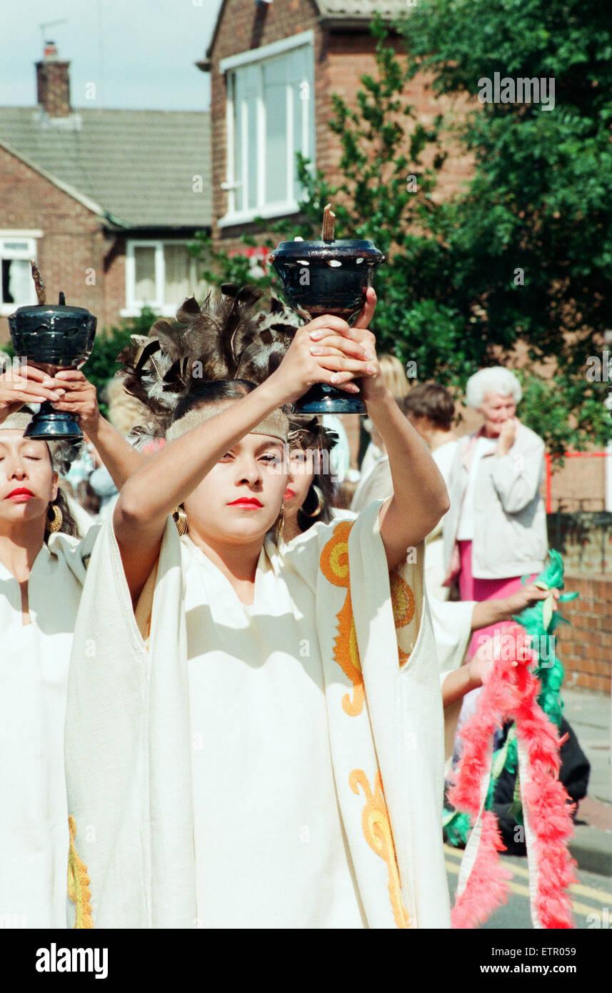 Billingham Festival de Folklore 1994, Festival Internacional de Folklore de danzas del mundo. 16 de agosto de 1994. Imagen De Stock