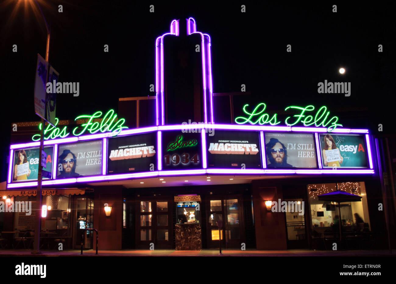 Fotografía nocturna: Los Feliz, Los Angeles, California Imagen De Stock
