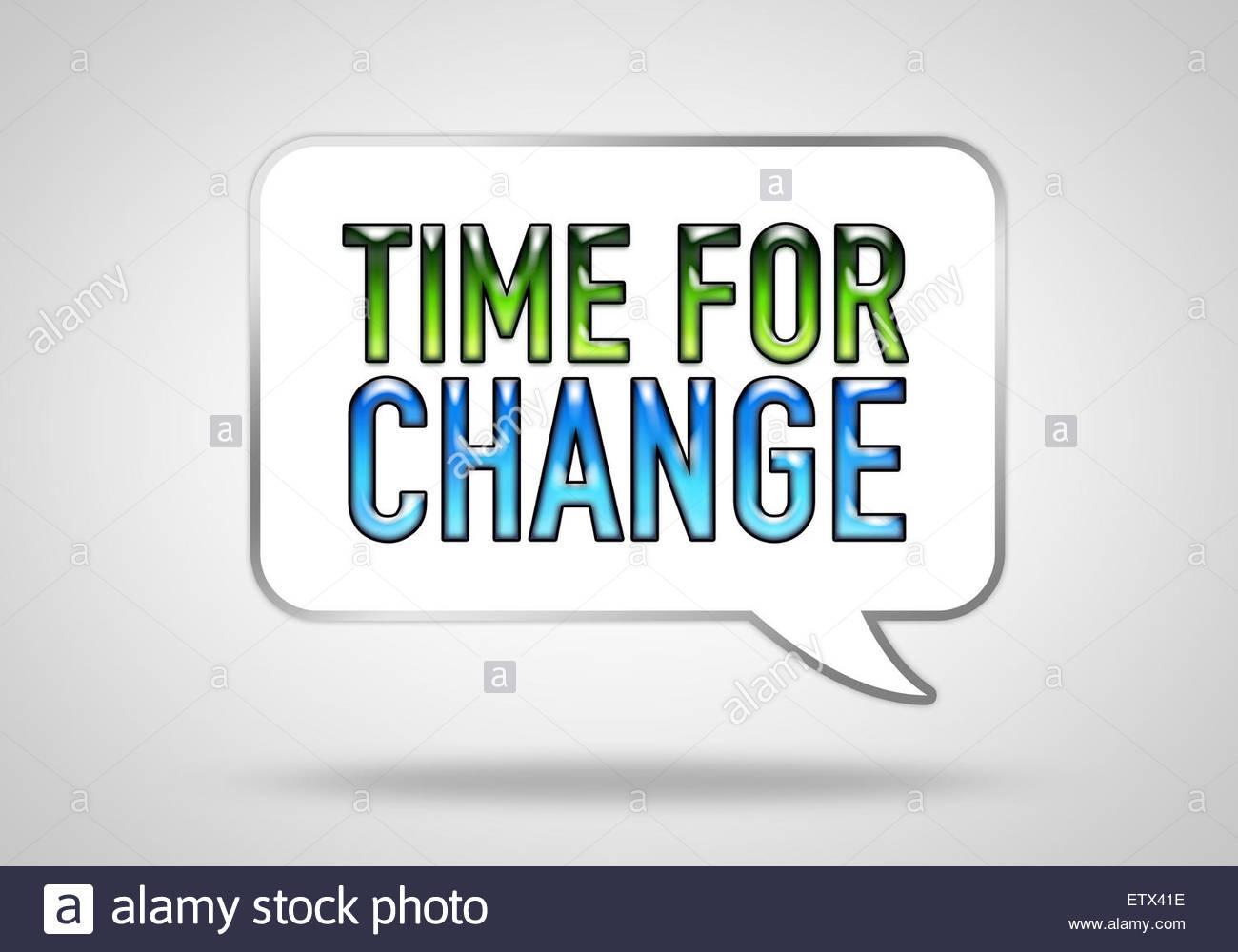 El tiempo para el cambio - bocadillo concepto Imagen De Stock