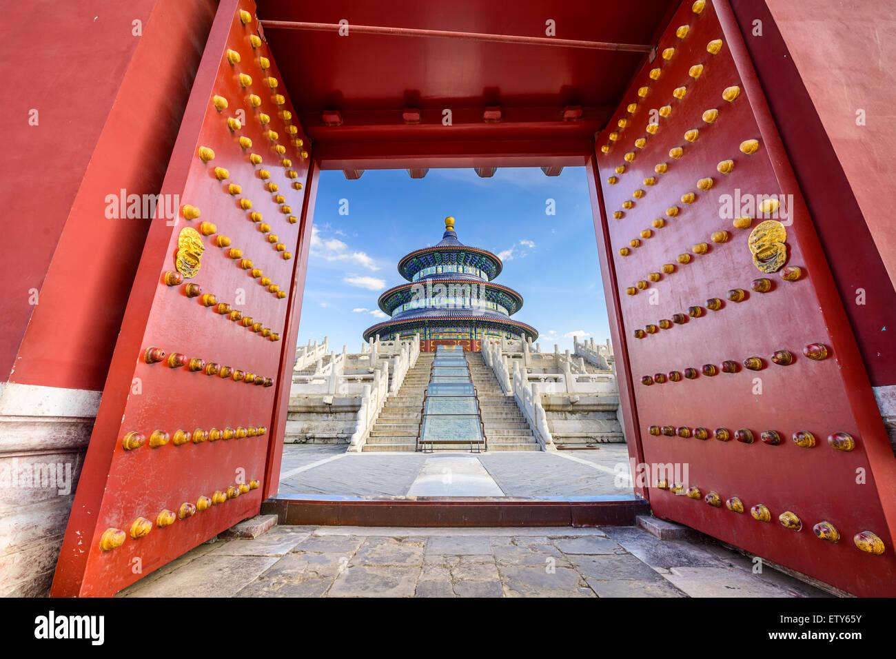 Beijing, China, en el Templo del Cielo. Imagen De Stock