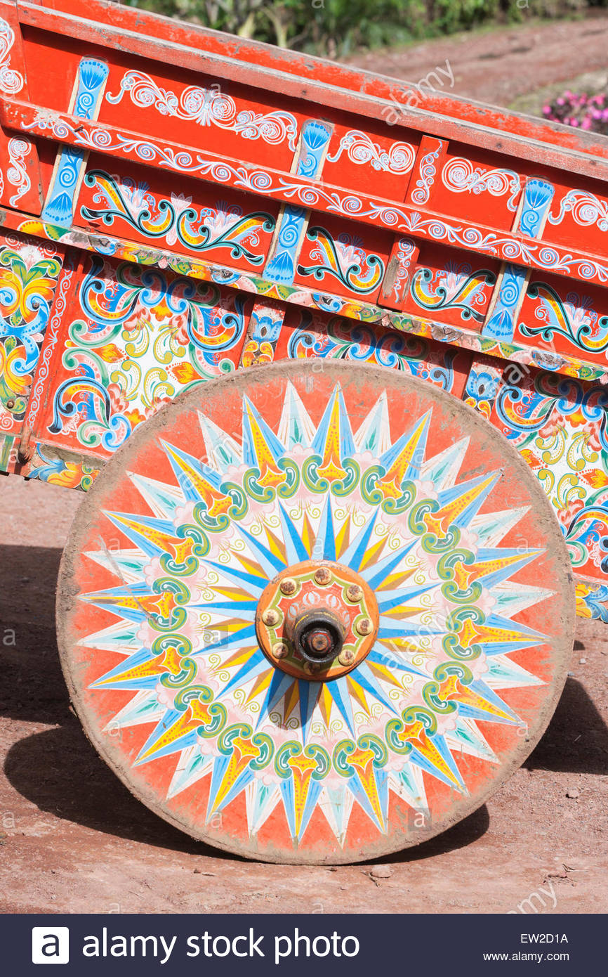 Carro de buey decorativos, Costa Rica, Centroamérica Imagen De Stock