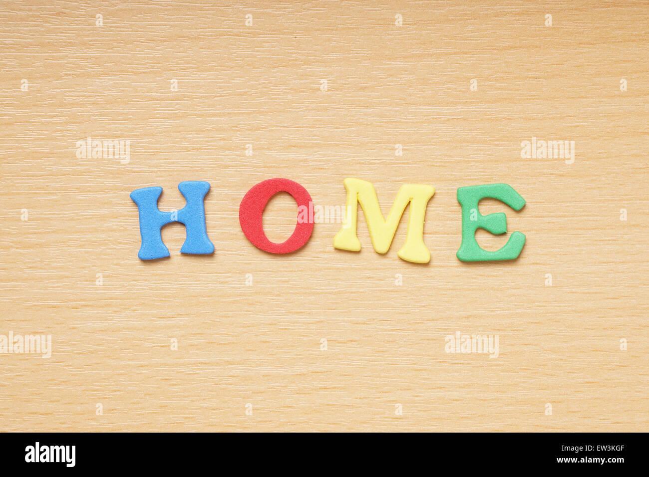 Casa en goma espuma cartas Imagen De Stock