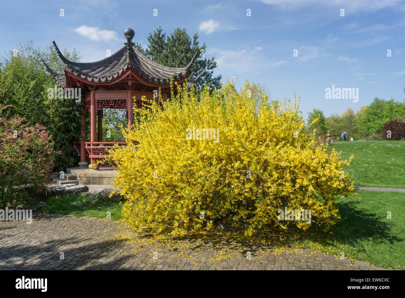 Jardín DEL MUNDO, parque recreativo , Marzahn, Berlín Imagen De Stock