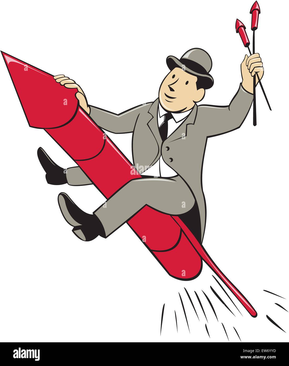 Ilustracion De Un Hombre En Un Traje Llevar Sombrero De Celebracion