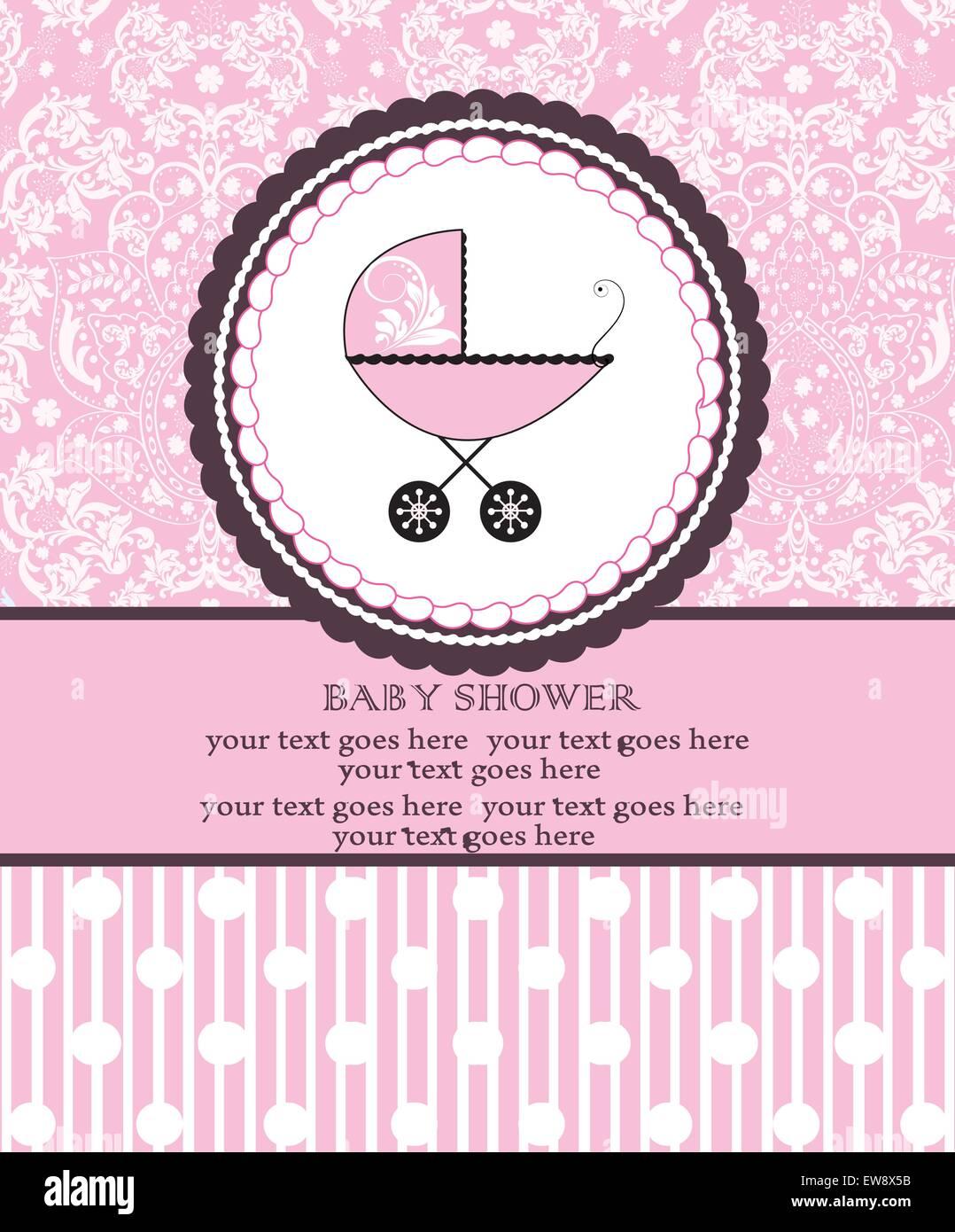 Tarjeta De Invitación De Baby Shower Vintage Con