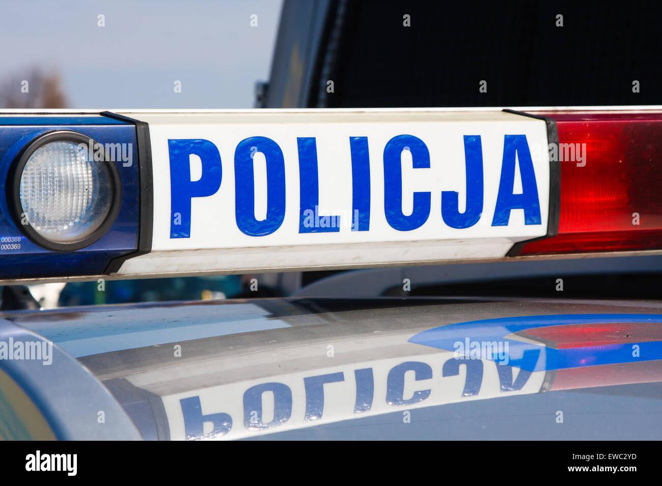 LIPNICA MUROWANA, Polonia- 29 de marzo: Pascua Palm Concurso Anual en Lipnica Murowana. La policía polaca firmar Imagen De Stock