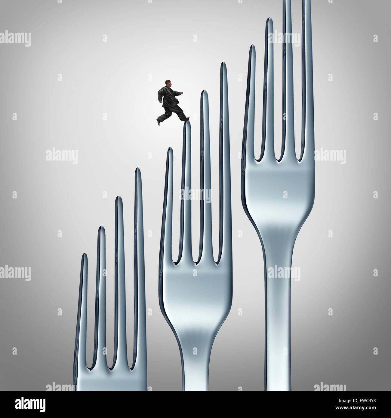 Estilo de vida saludable desafío e idoneidad a través de ejercicio y comer alimentos saludables como el Imagen De Stock