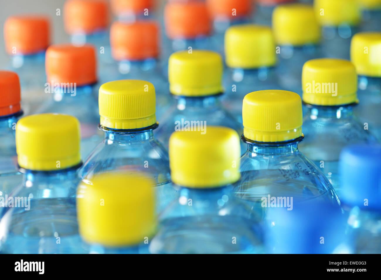 Botellas de plástico Foto de stock