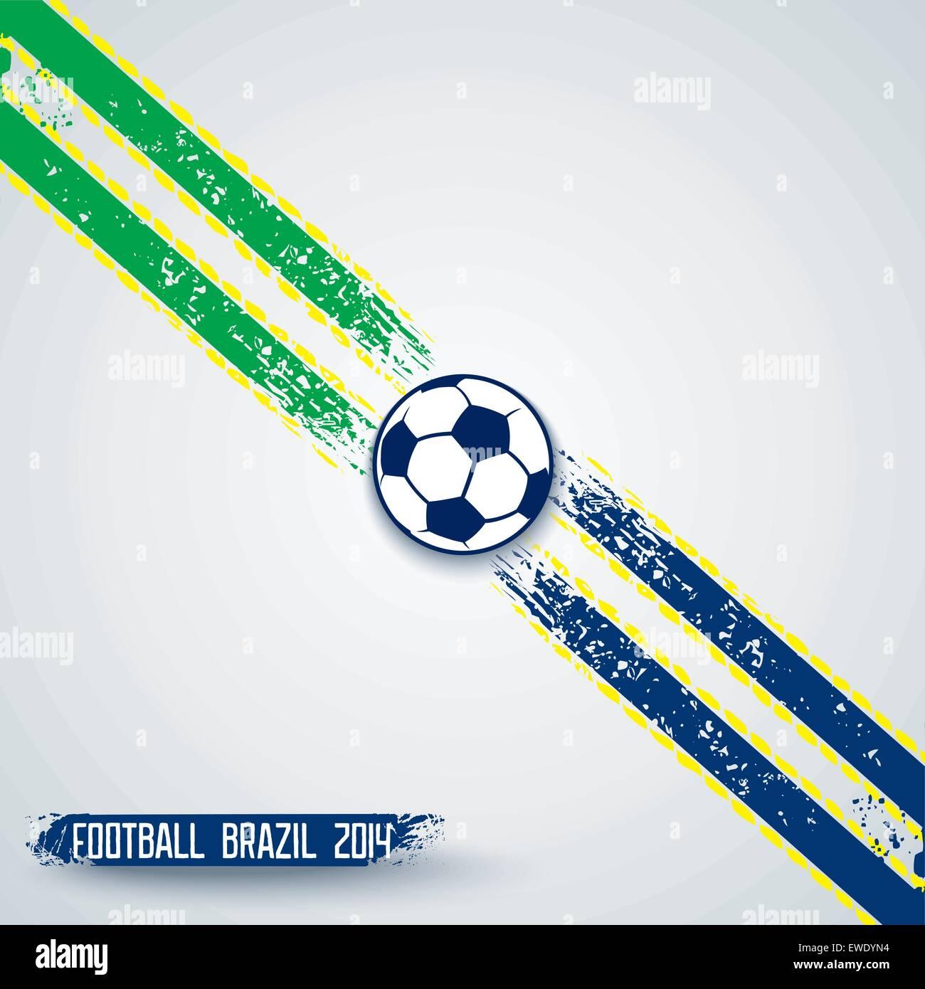 Deportes plantilla grunge con rayas en diagonal y un balón de fútbol ...