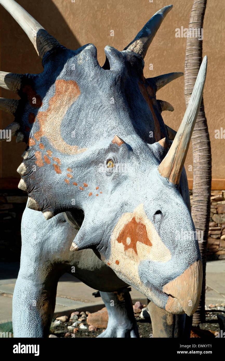 Styracosaurus, Dinosaurio Resource Center, Woodland Park, Colorado, EE.UU. Foto de stock