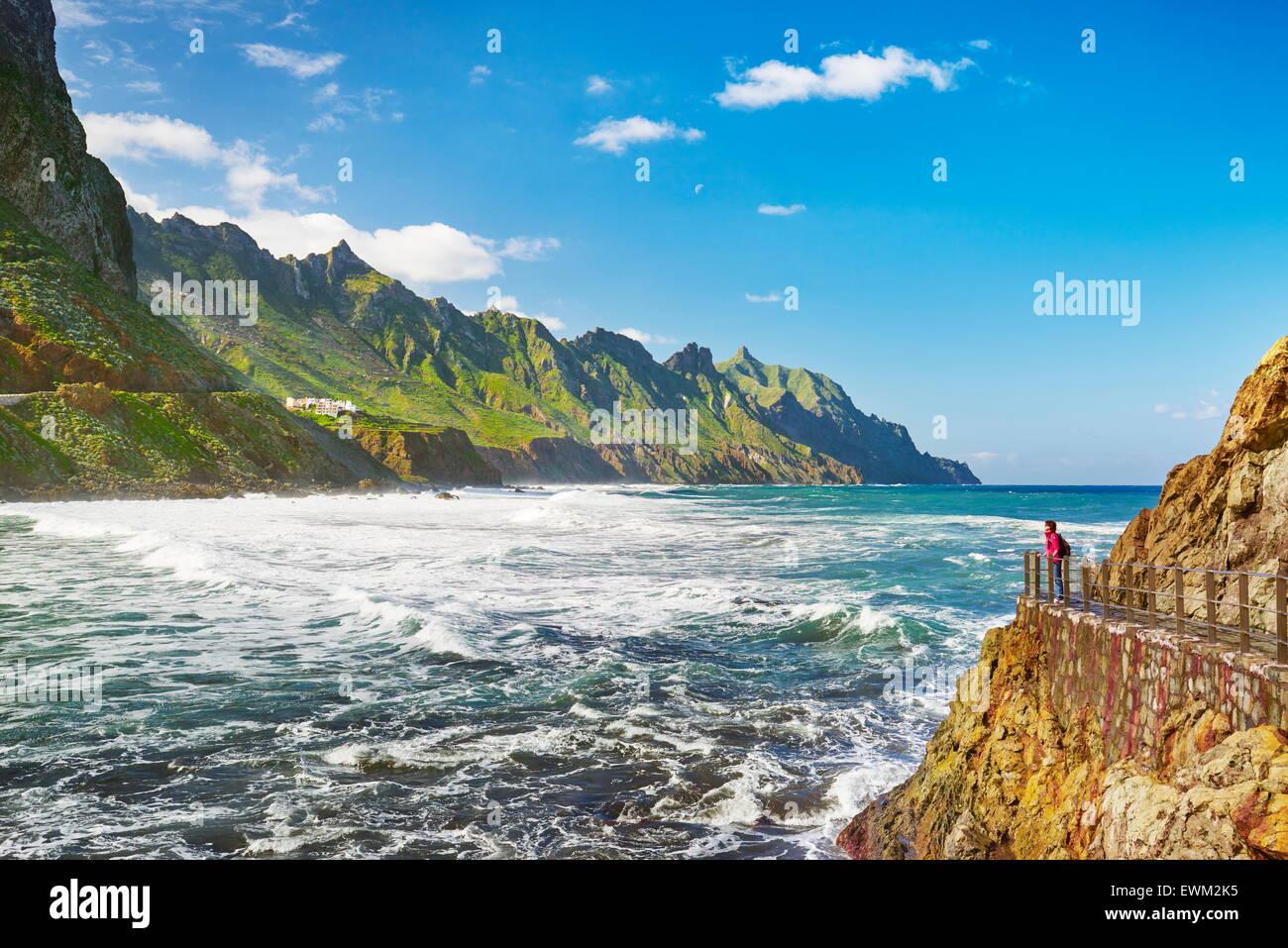 Almaciga, Costa de Taganana, Tenerife, Islas Canarias, España Imagen De Stock