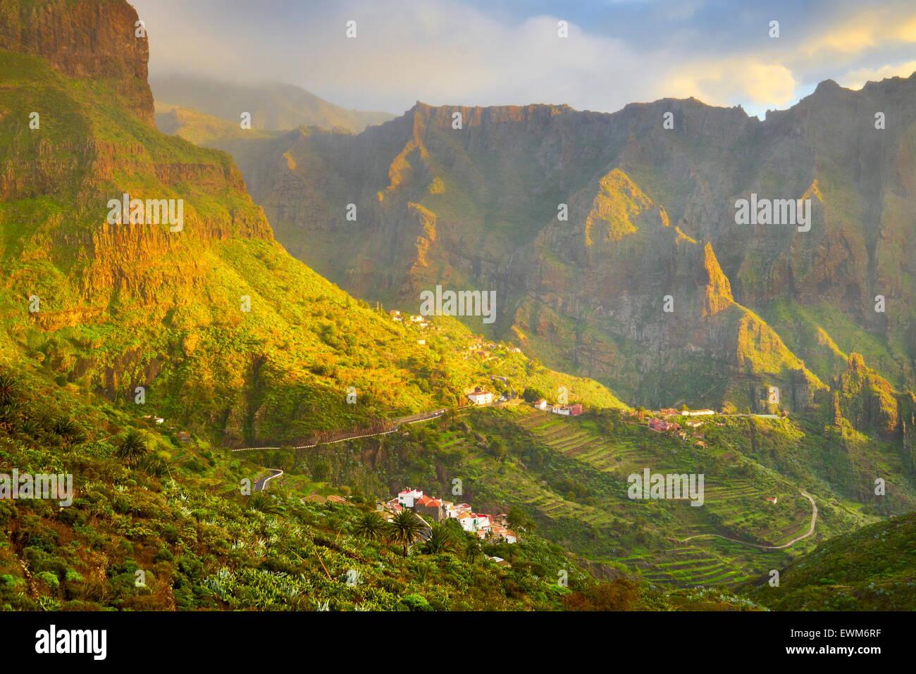 Pueblo de Masca, Tenerife, Islas Canarias, España Foto de stock