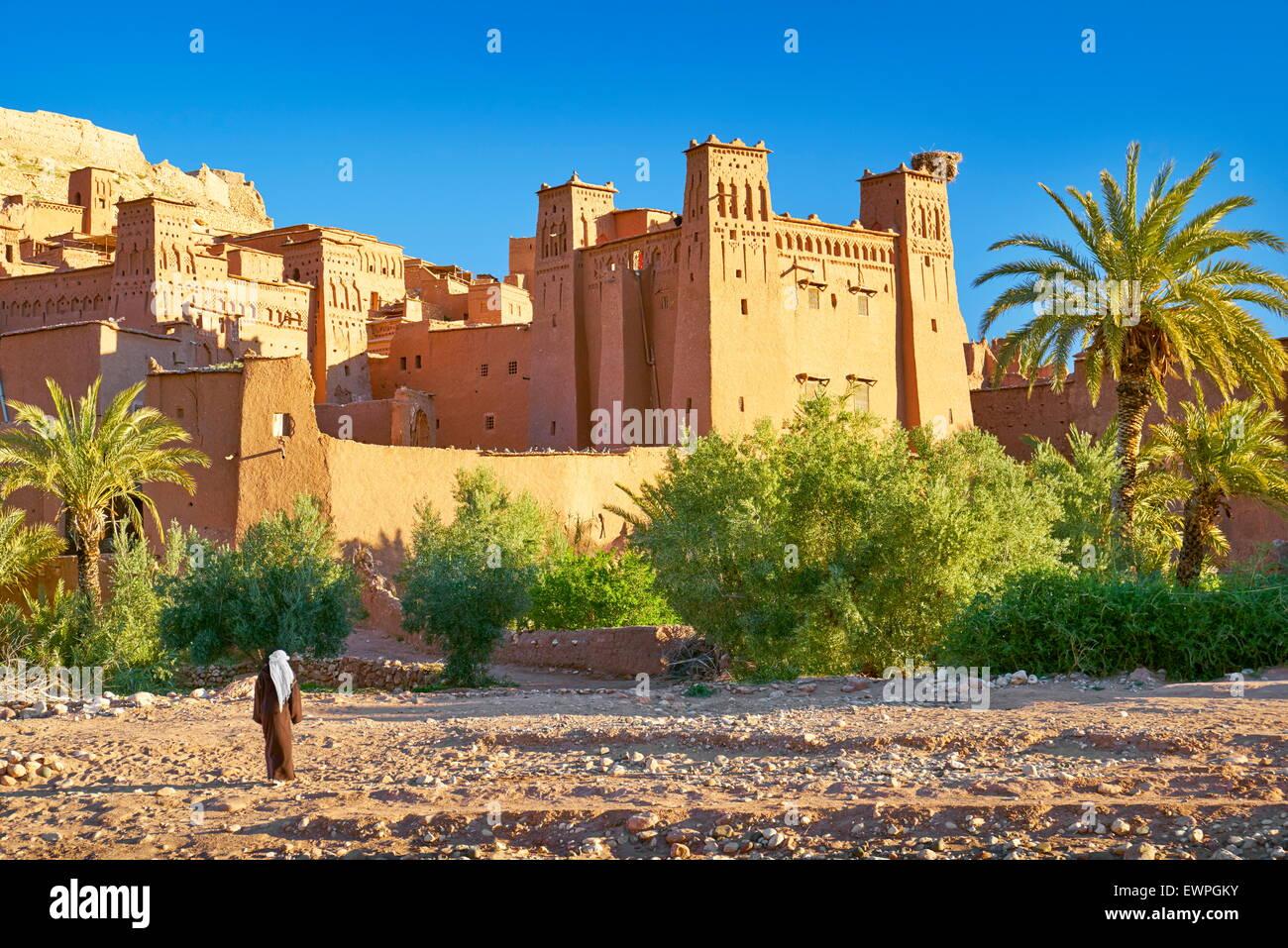 Ait Benhaddou fortaleza cerca de Ouarzazate, Marruecos Imagen De Stock