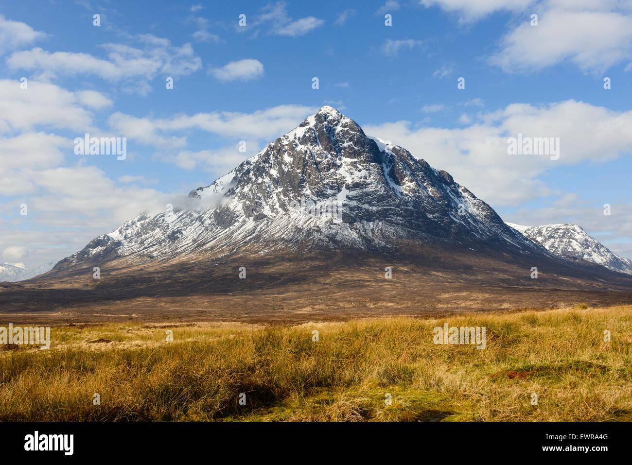 Stob Dearg el pico principal de Buachaille Etive Mor Foto de stock