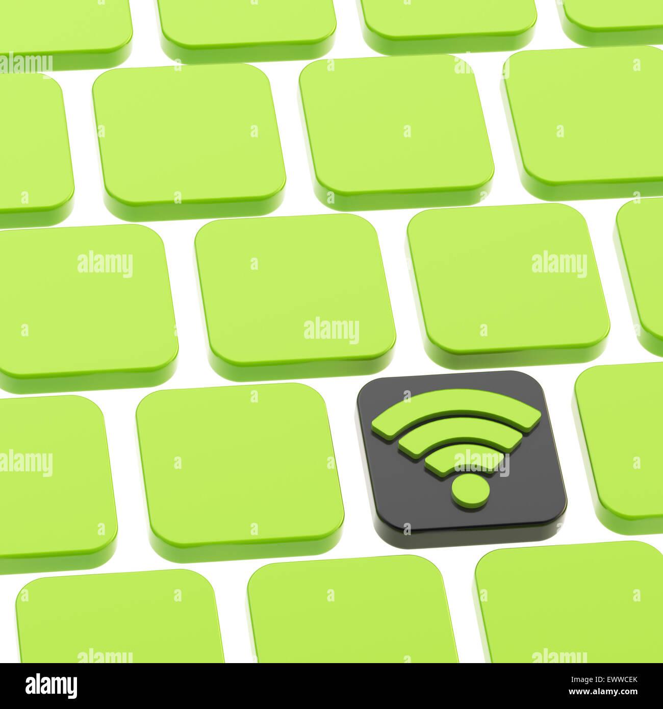 Botón de teclado Wifi composición Imagen De Stock