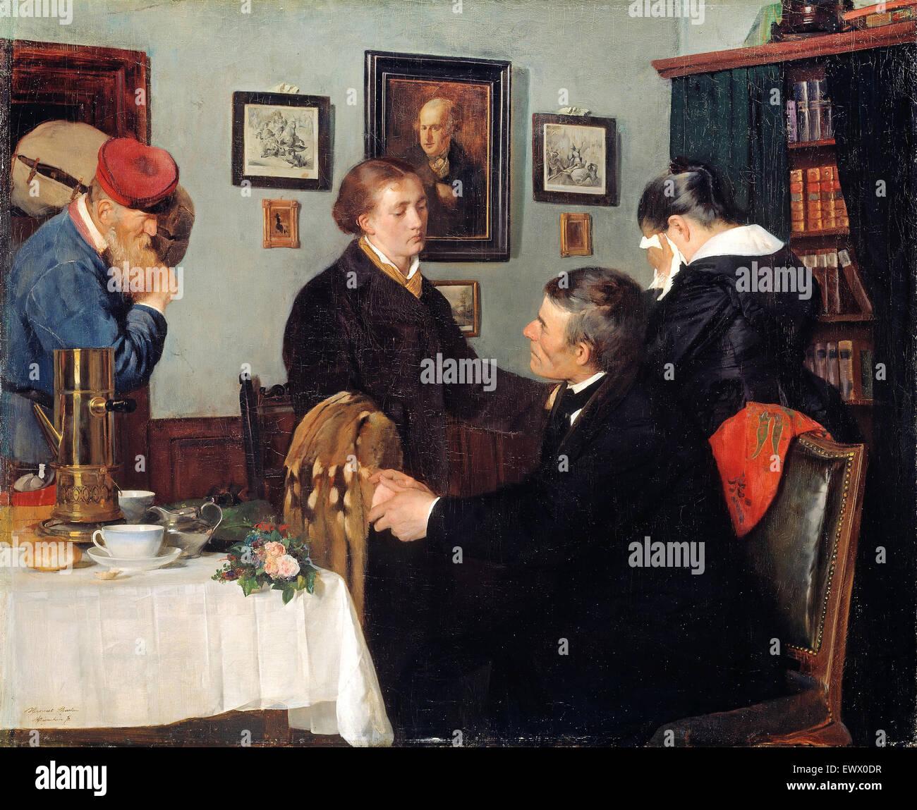 Harriet Backer, La despedida 1878 Óleo sobre lienzo. Galería Nacional, Oslo, Noruega. Imagen De Stock