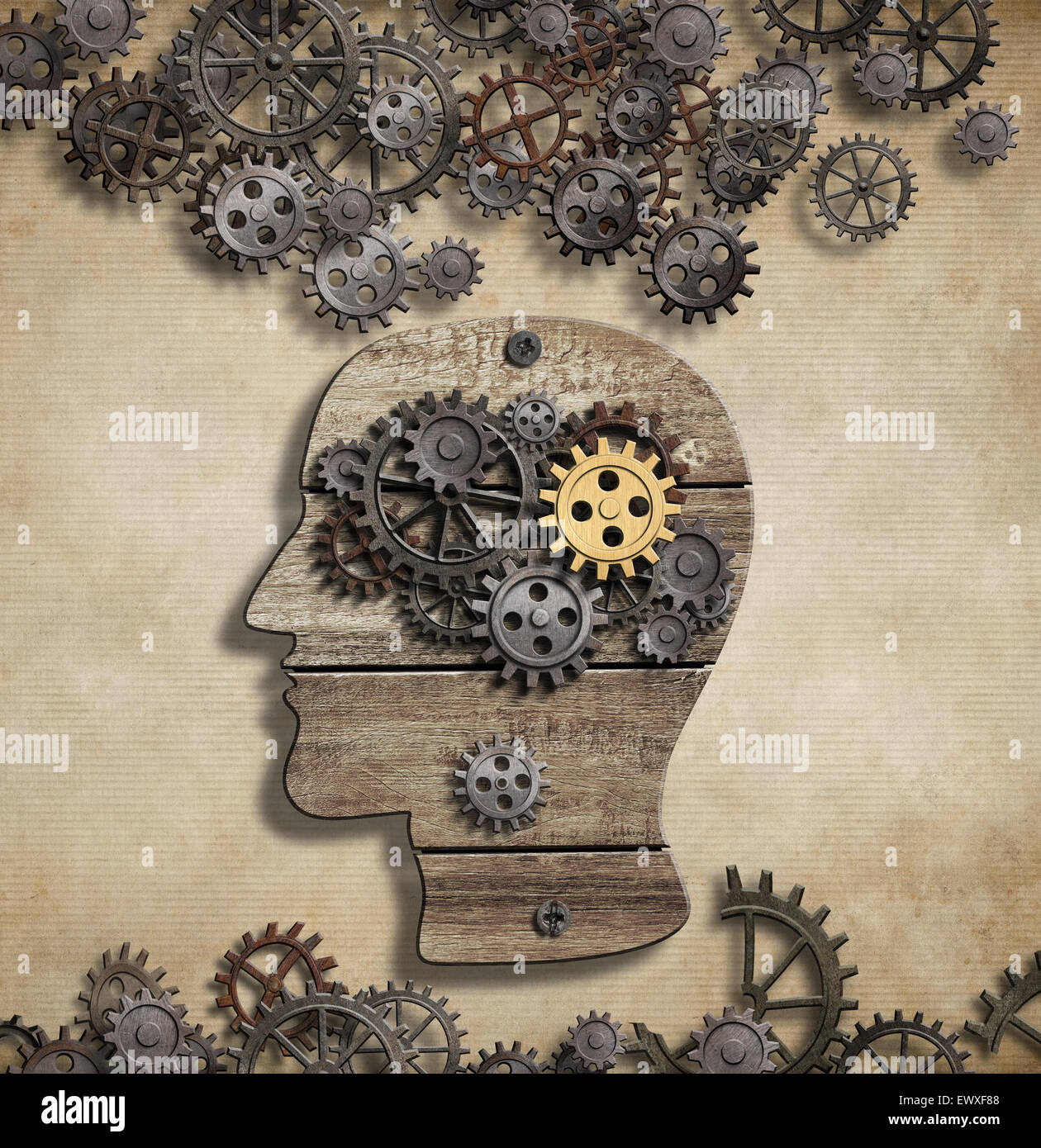 El cerebro y la actividad mental idea concepto Imagen De Stock