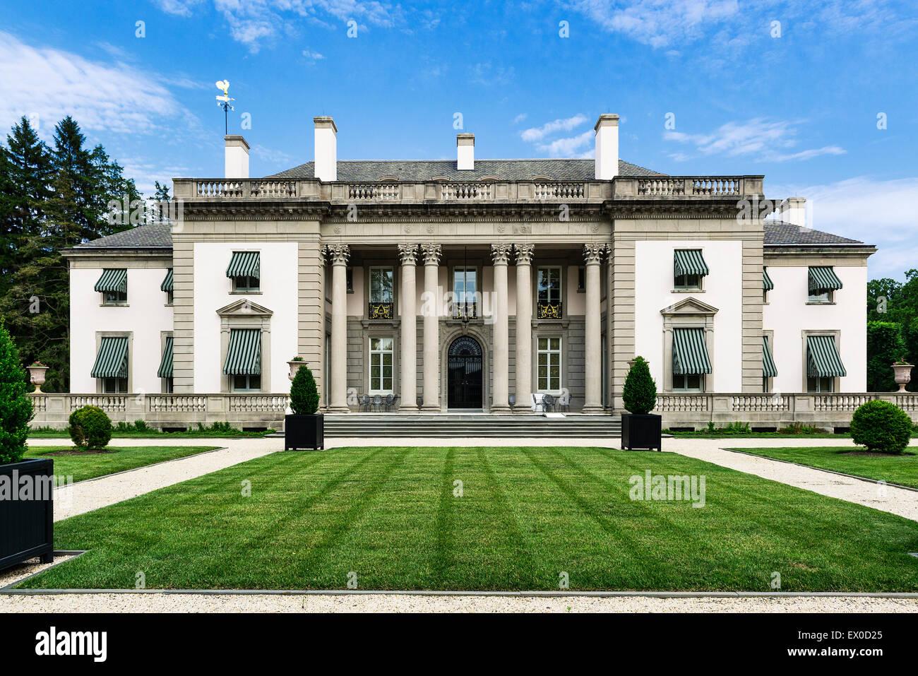 Nemours Mansion y jardines, Wilmington, Delaware, EE.UU. Imagen De Stock