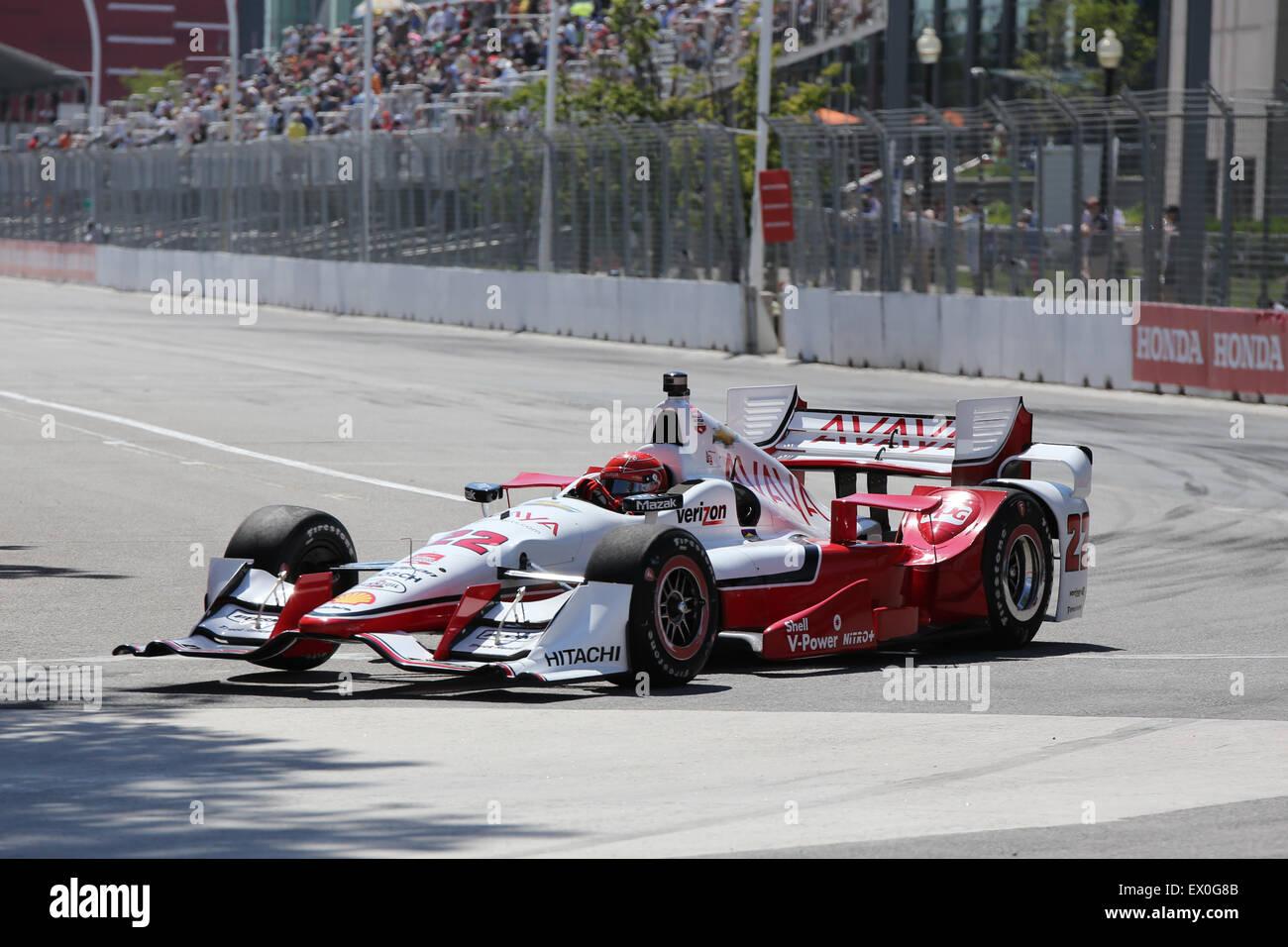 Evento público de Toronto Hondy Indy Car Racing Weekend Imagen De Stock