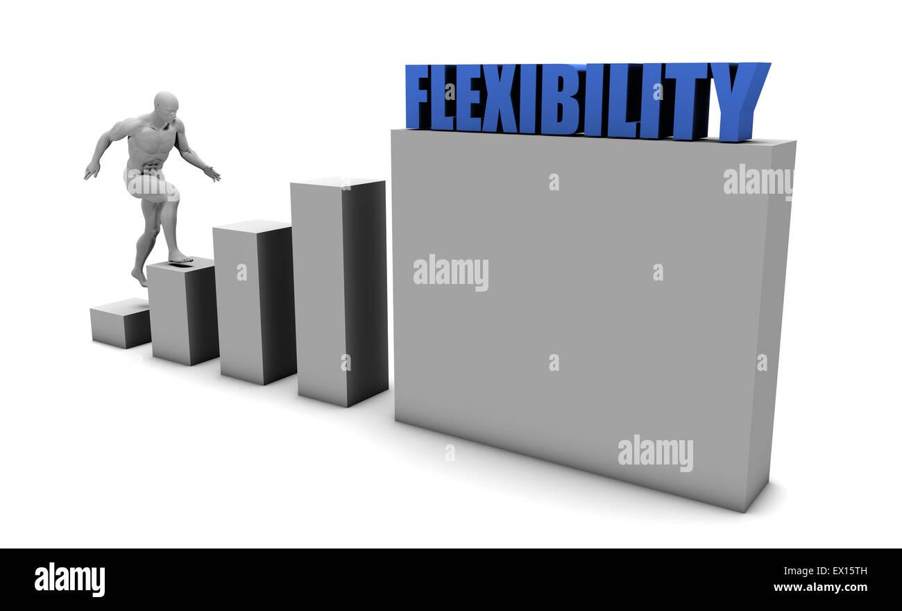 Mejorar su flexibilidad y aumentar o alcanzar tu objetivo Imagen De Stock