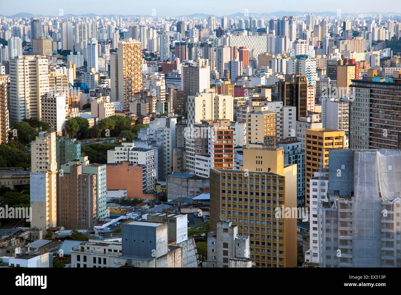 Sao Paulo, Brasil - vista desde el edificio Italia Imagen De Stock