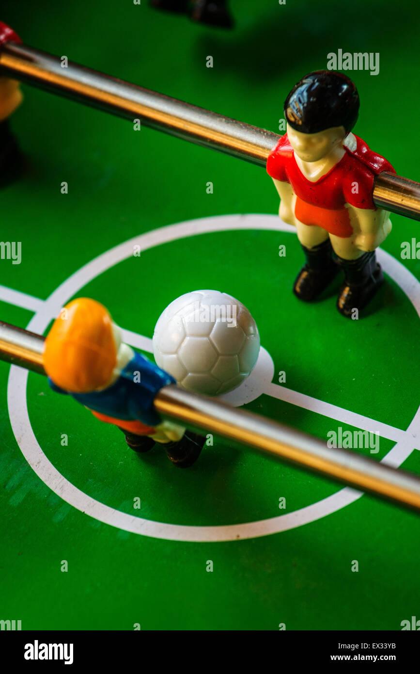 Futbol De Mesa O Futbolin Juego De Kicker El Enfoque Selectivo