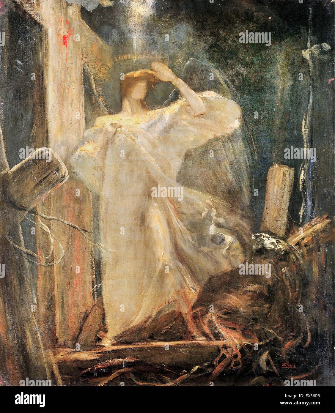 Nikolaos Gyzis, Arcángel, el estudio de la fundación de la fe. 1894-1895 Óleo sobre lienzo. Museo Imagen De Stock