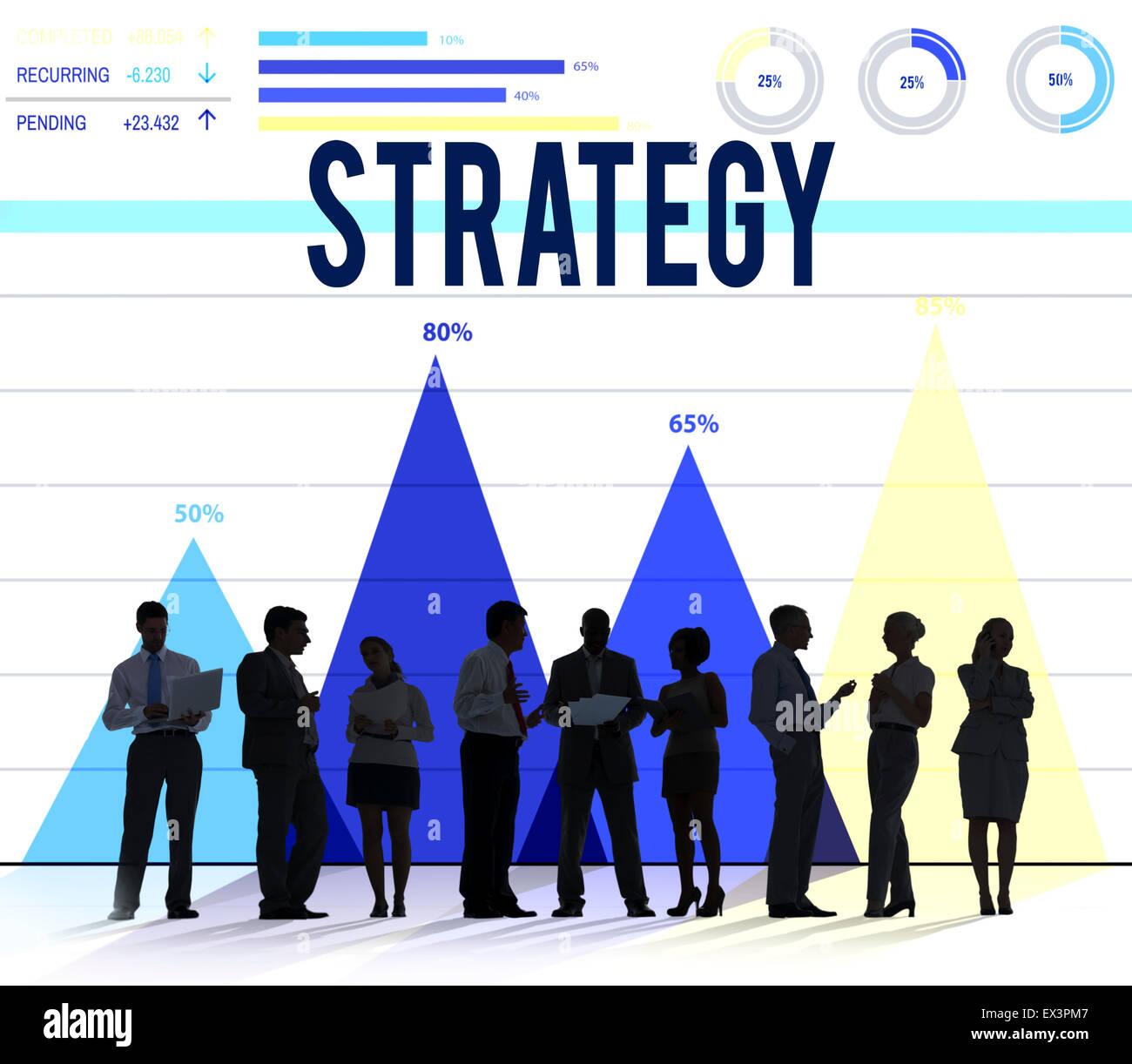 Directrices de la estrategia de desarrollo de la Misión concepto de planificación Imagen De Stock