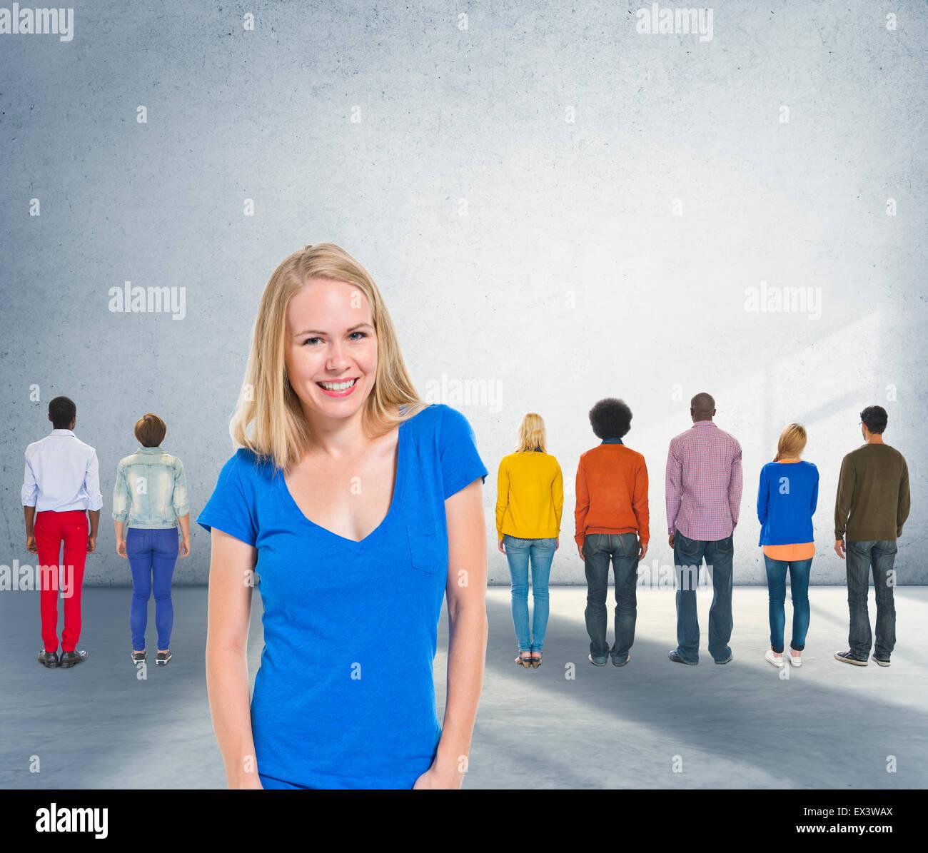 Liderazgo Coaching Team Trainer concepto de diversidad Imagen De Stock