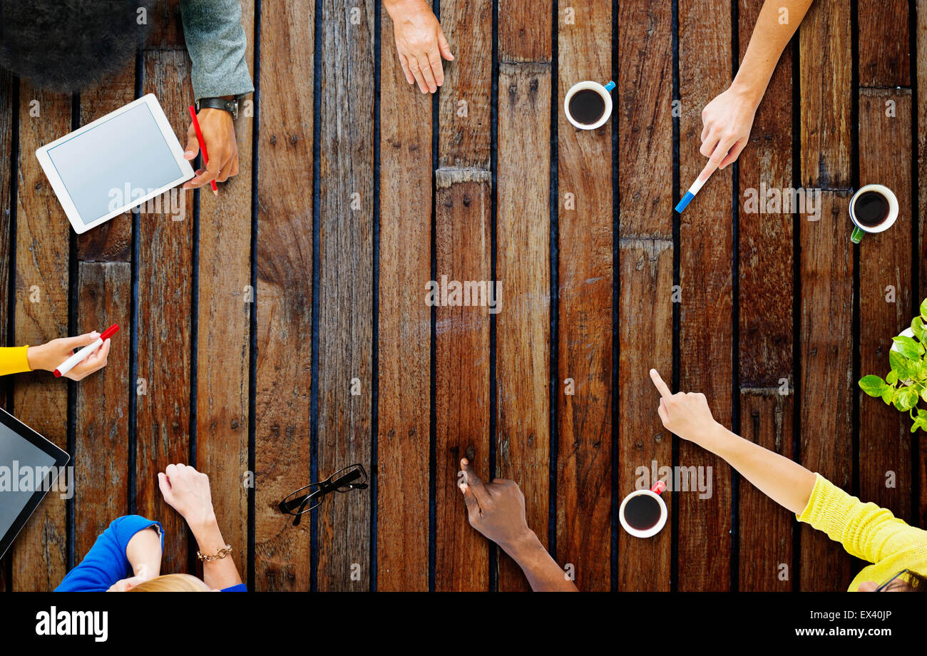 Planificación del equipo comercial Reunión del proyecto concepto Imagen De Stock