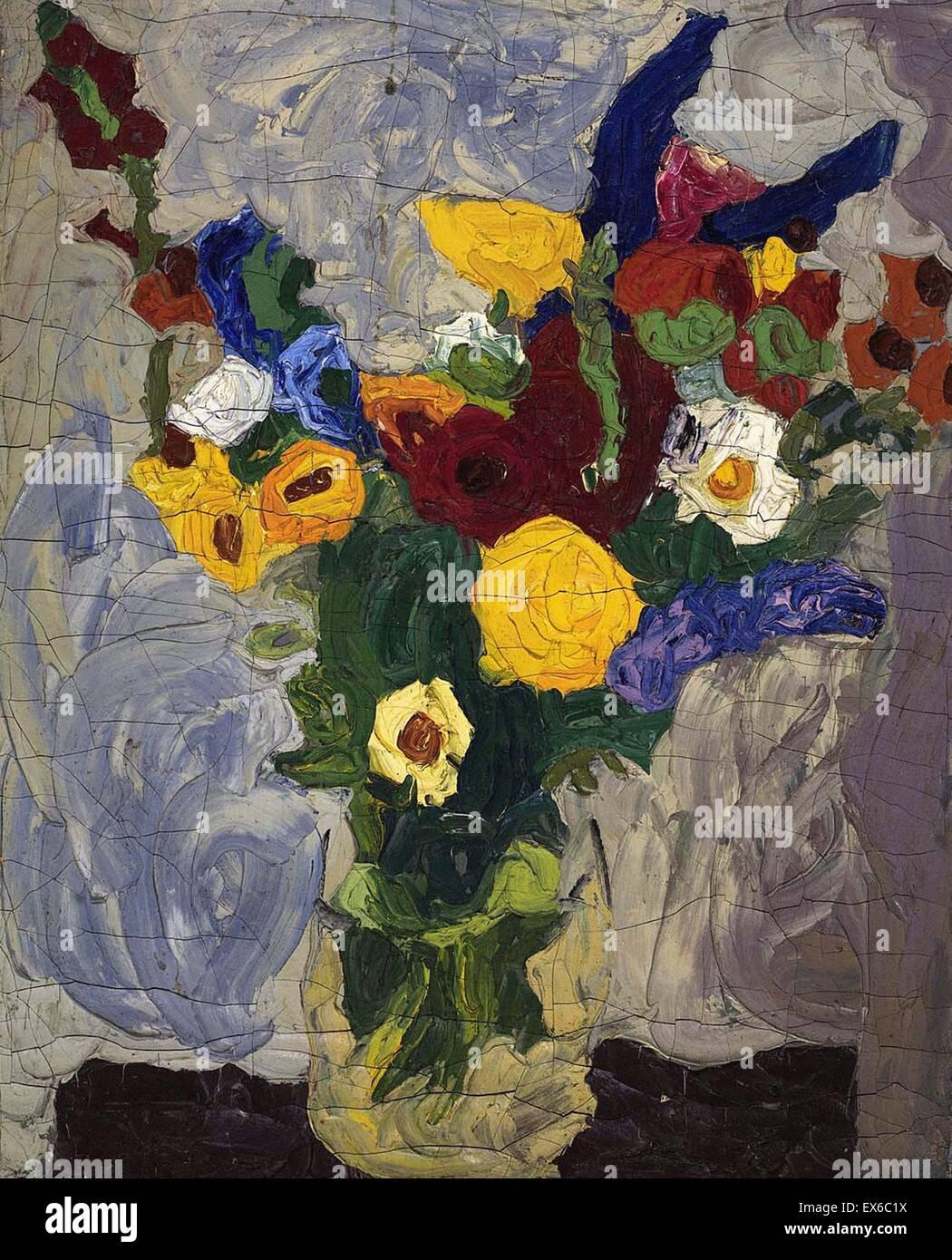William H. Johnson Bodegón - Bouquet Imagen De Stock
