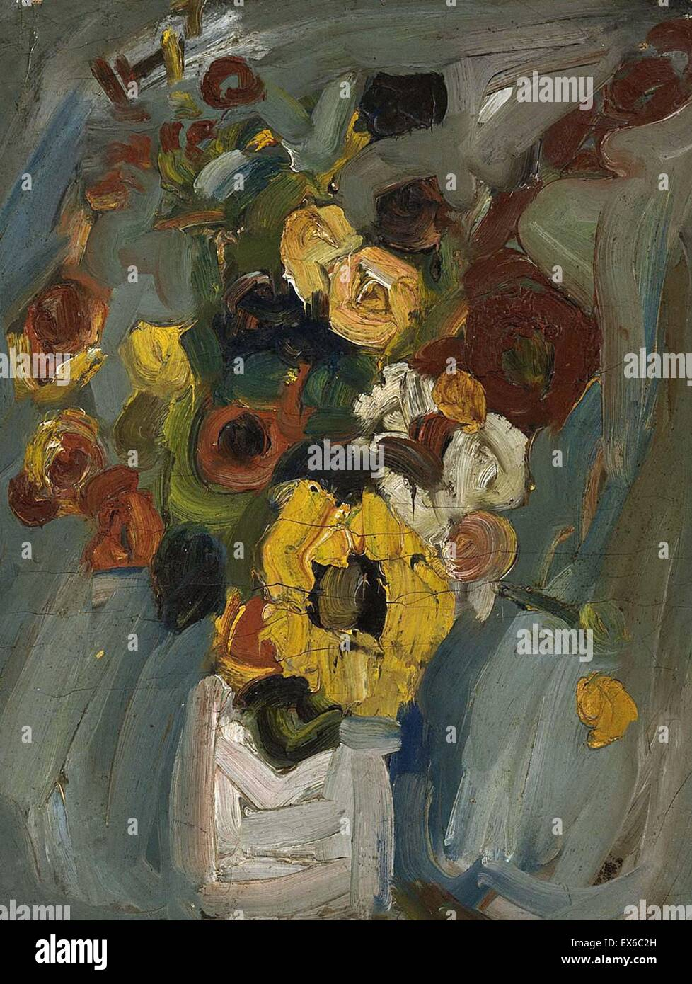 William H. Johnson Still Life - Flores Imagen De Stock