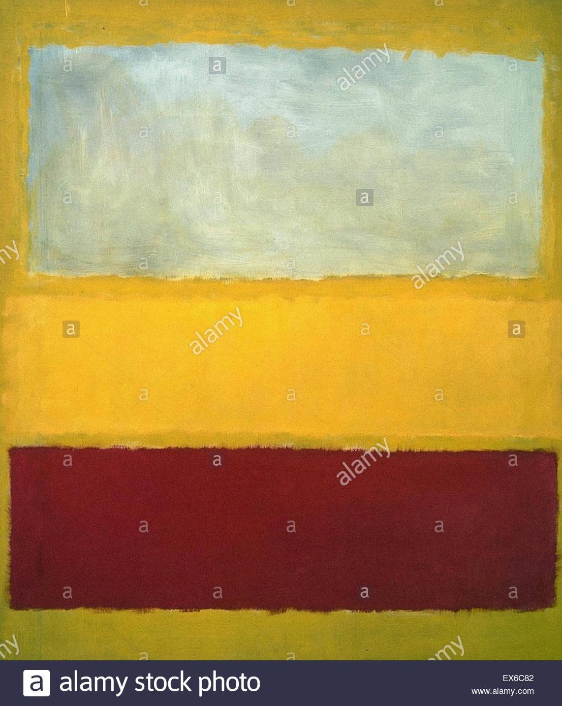 Mark Rothko nº 13 (blanco, rojo y amarillo) Imagen De Stock