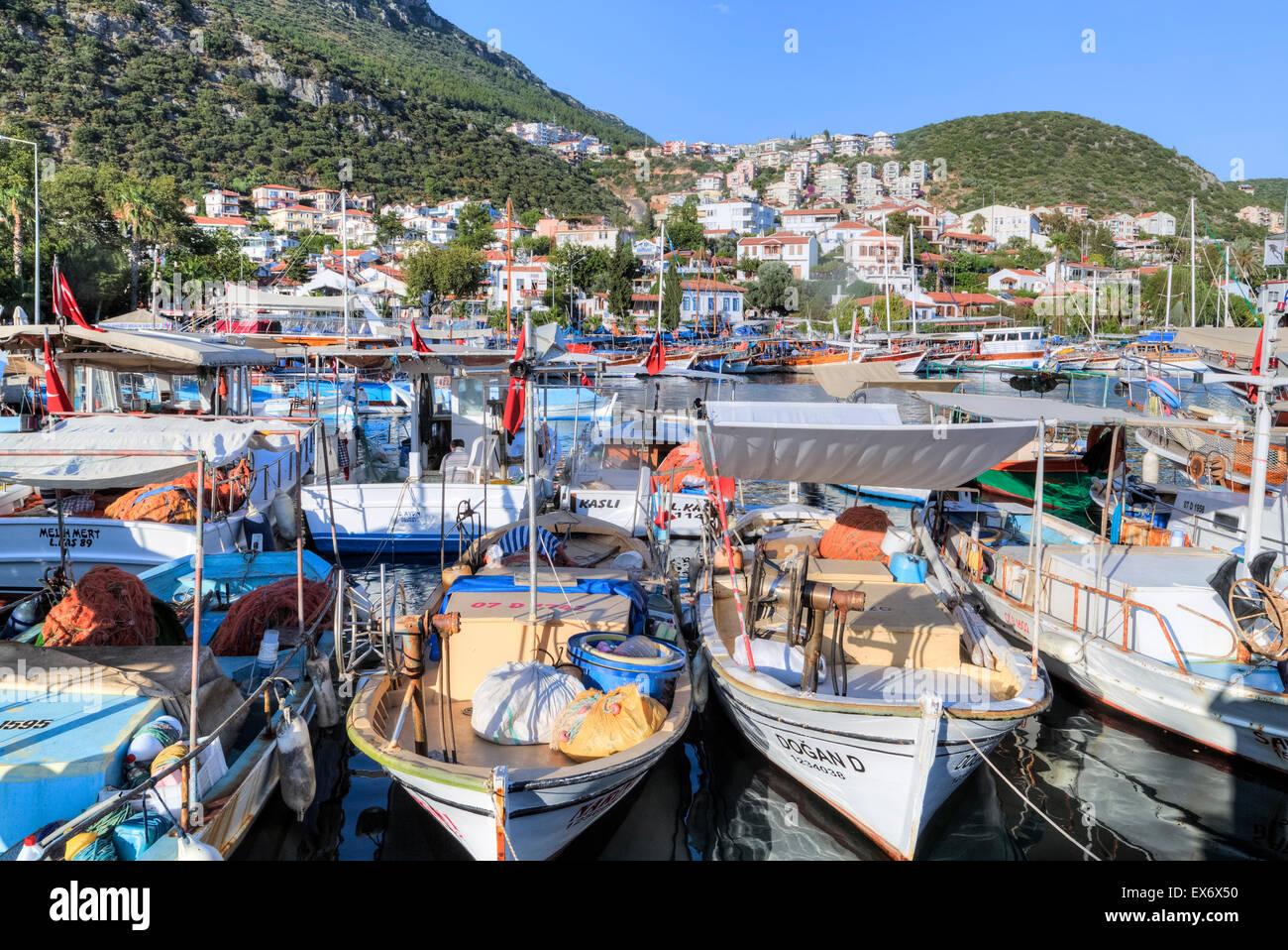 La Kas, Antalya, Turquía, el Mediterráneo Imagen De Stock
