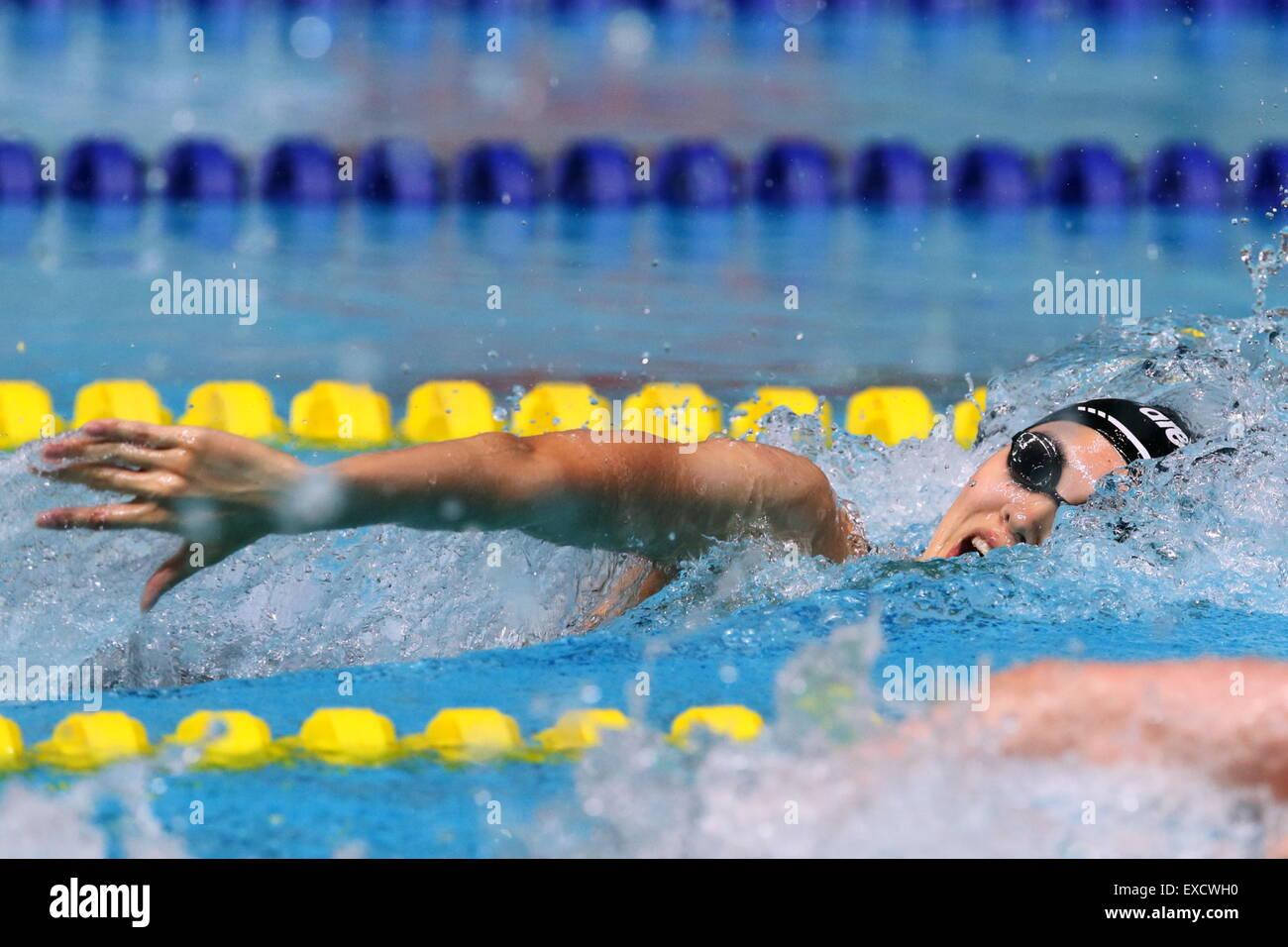 Gwangju, Corea del Sur. El 10 de julio, 2015. Yui Yamane (JPN) nadando : El 28 verano Universiadas 2015 Gwangju Imagen De Stock