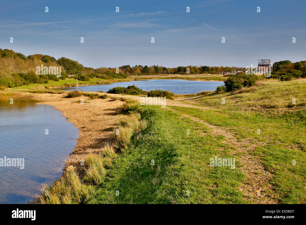 Greenham Common; piscinas, Berkshire, Reino Unido Imagen De Stock