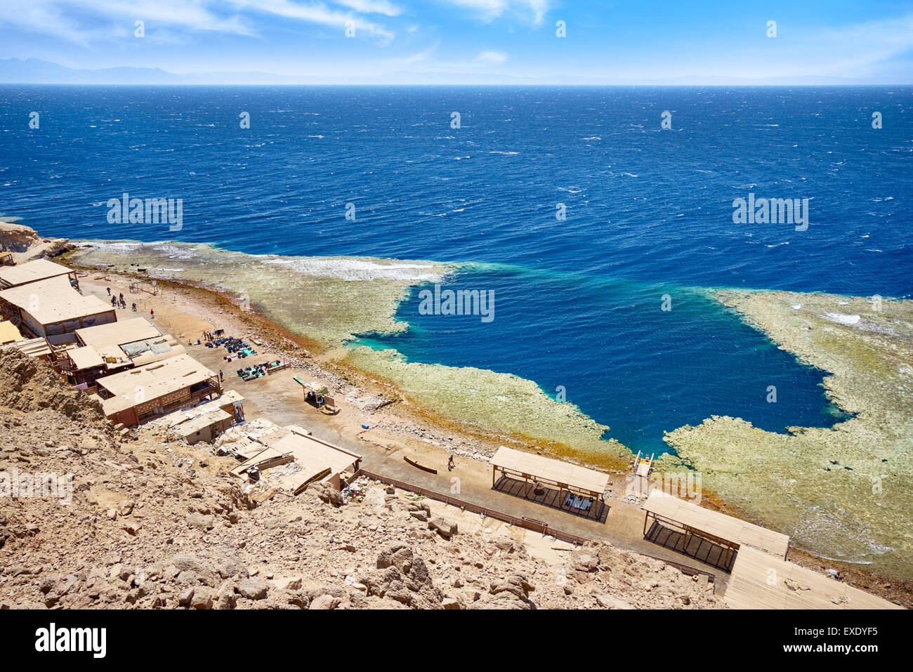 Blue Hole, Dahab, el Sinaí, el Mar Rojo, Egipto Imagen De Stock