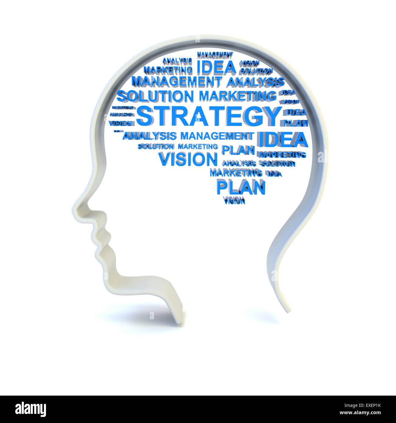 El concepto de estrategia de negocios Imagen De Stock
