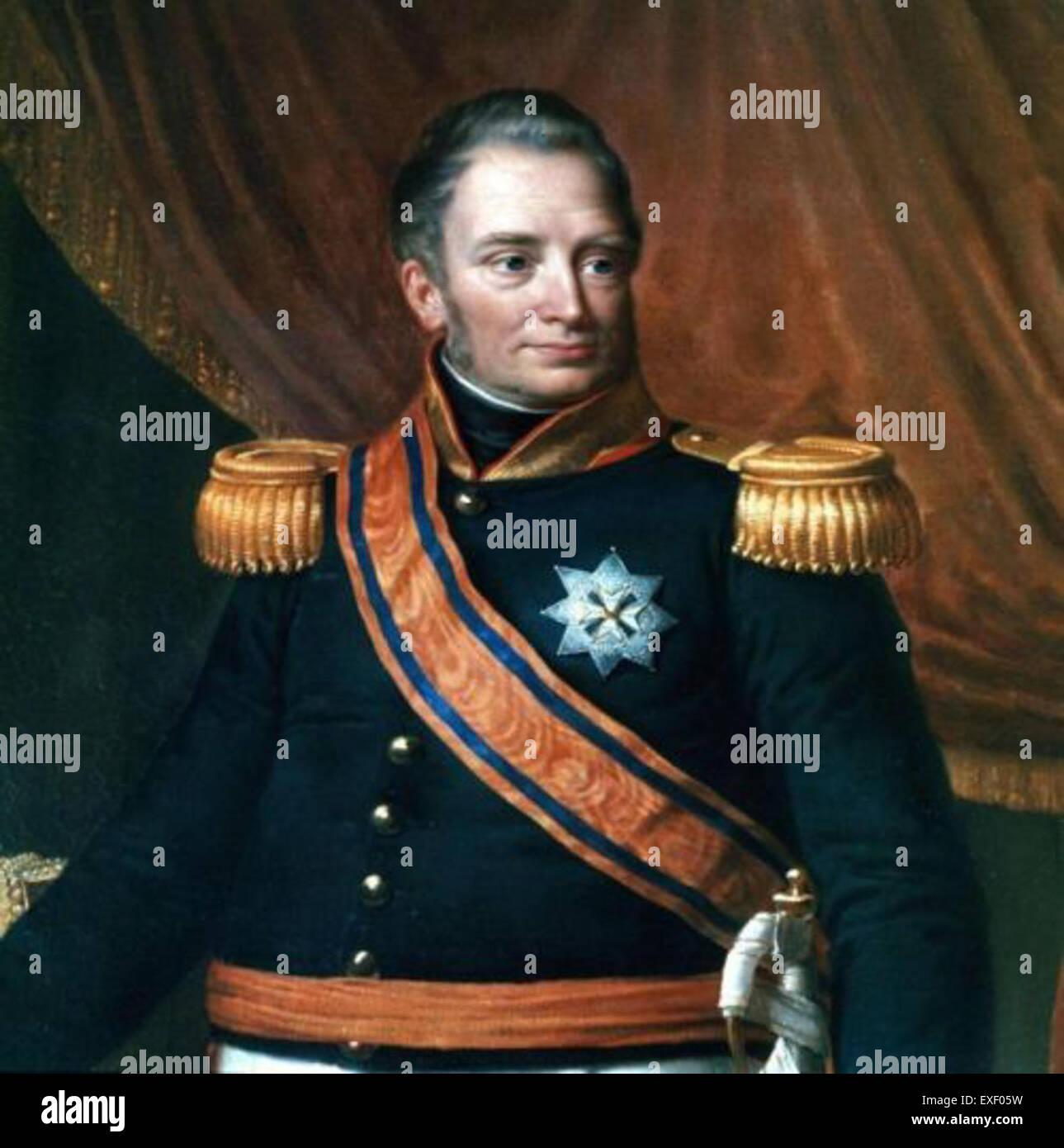 Portret van koning Willem I retrato del rey Imagen De Stock