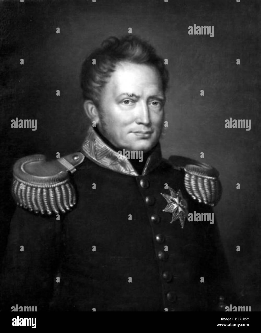 Portret van koning Willem I Retrato del Rey Willem Imagen De Stock