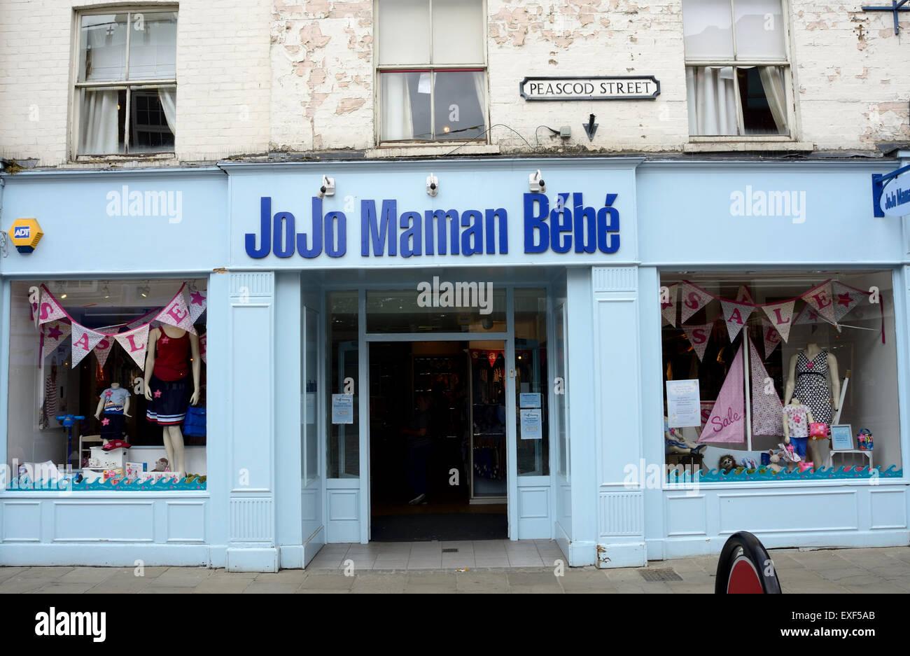 ceb55490d El JoJo Maman Bebe store en la calle Peascod en Windsor. Imagen De Stock
