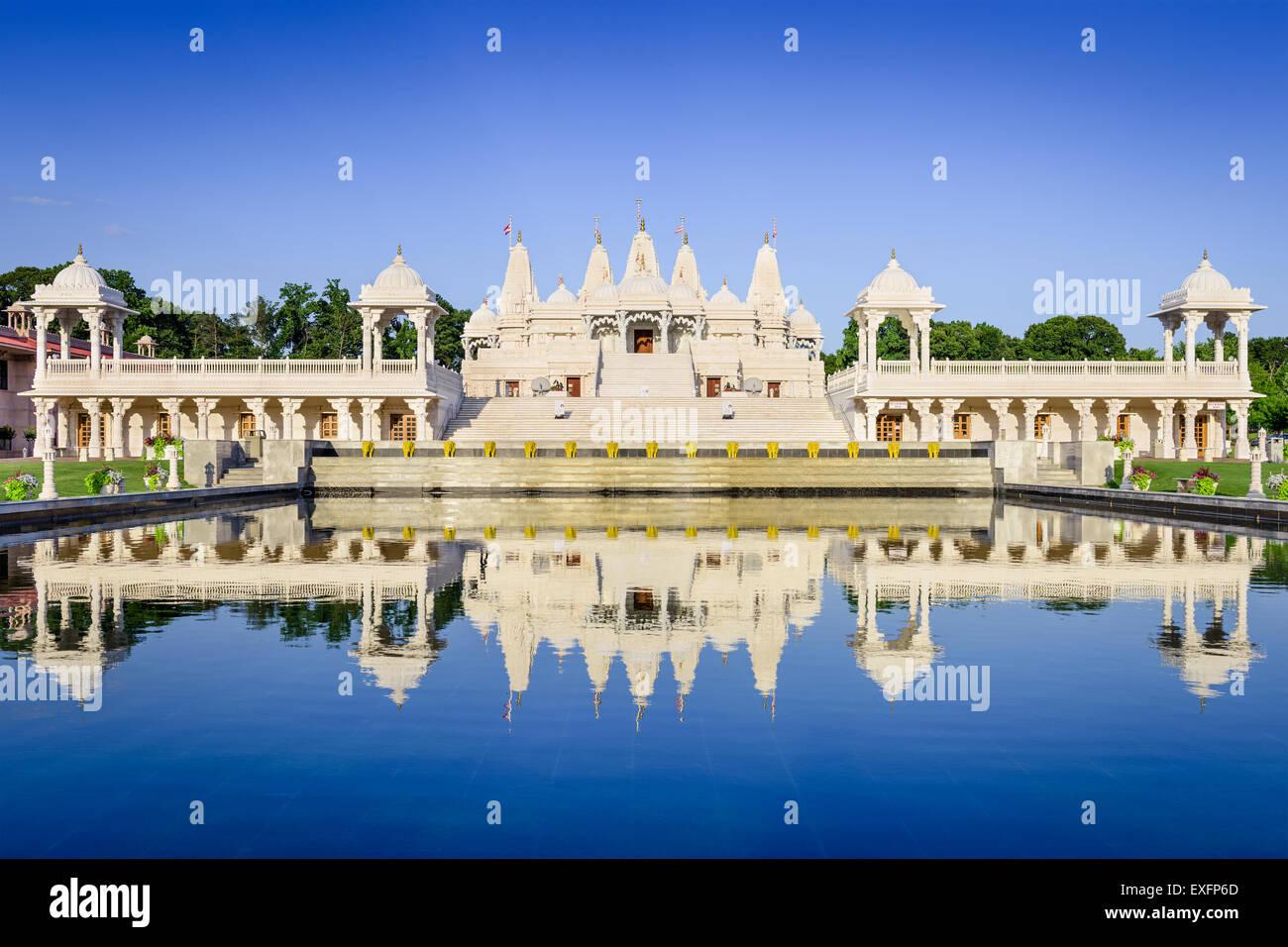 Templo hindú en Atlanta, Georgia. Imagen De Stock