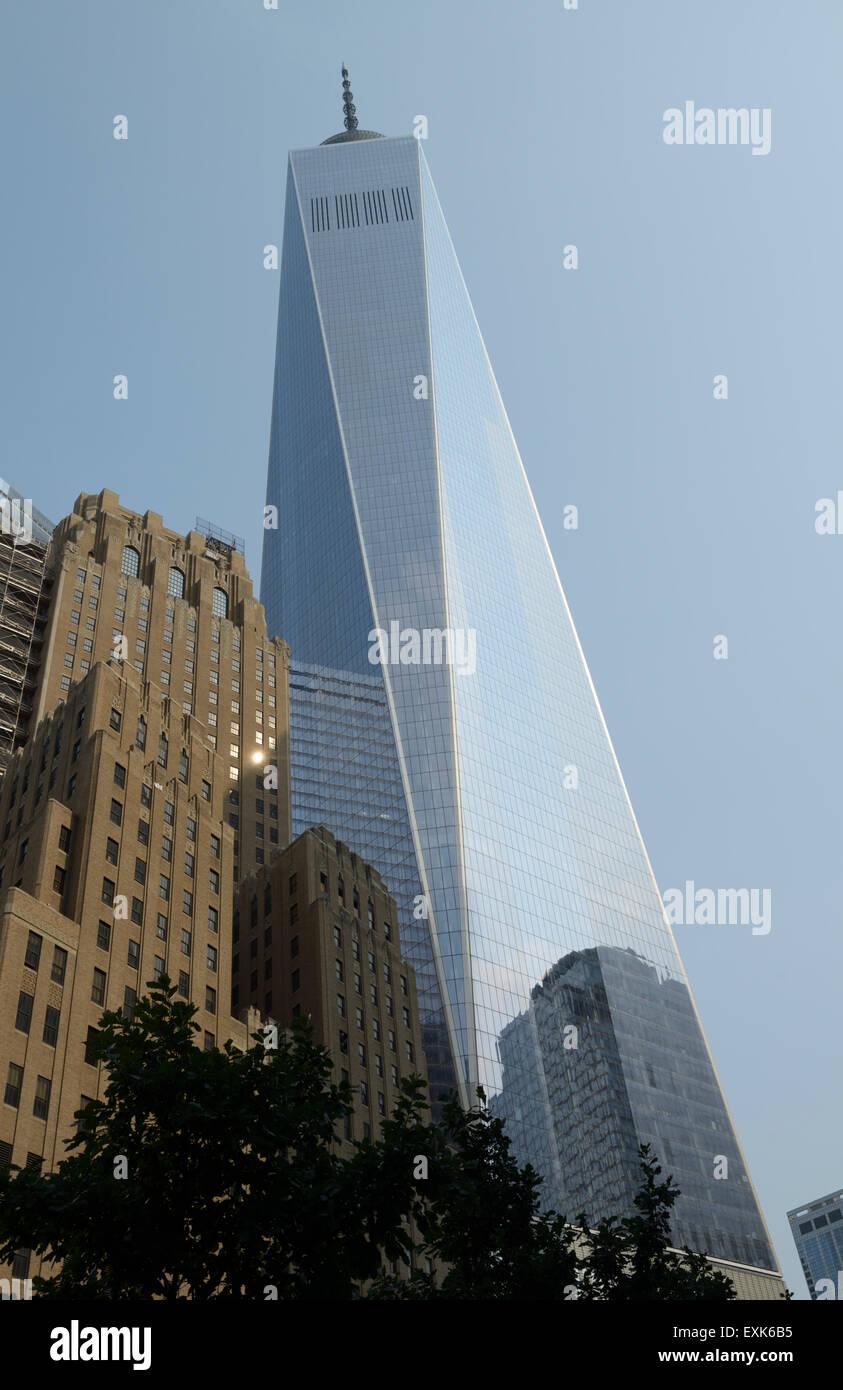 El One World Trade Center, la ciudad de Nueva York Foto de stock