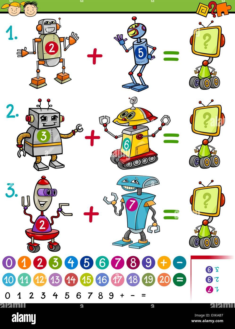 Ilustracion De Cartoon Juegos Matematicos De Educacion Para Ninos