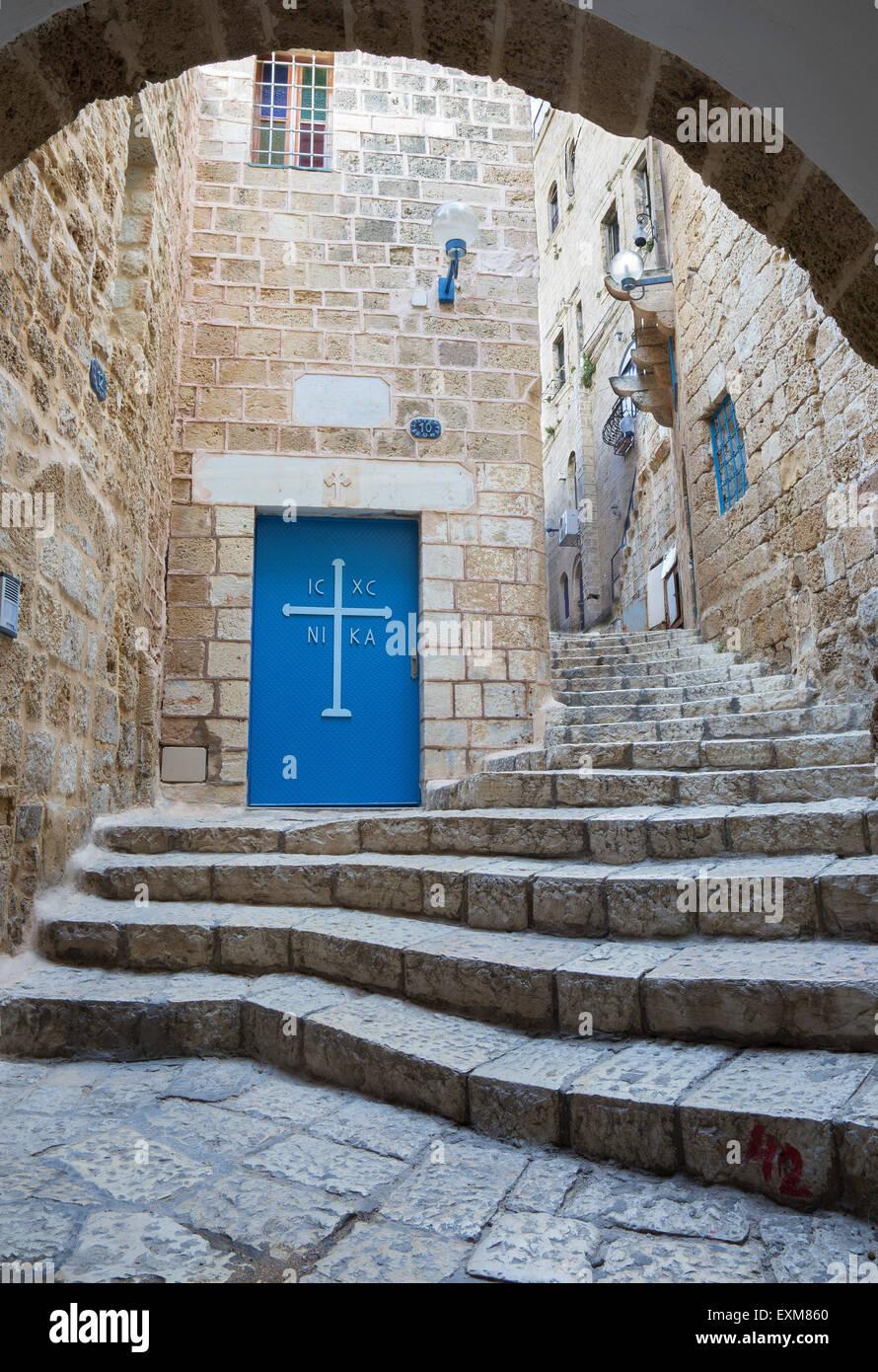 Tela Aviv - Poco pasillo de la vieja Jaffa Imagen De Stock