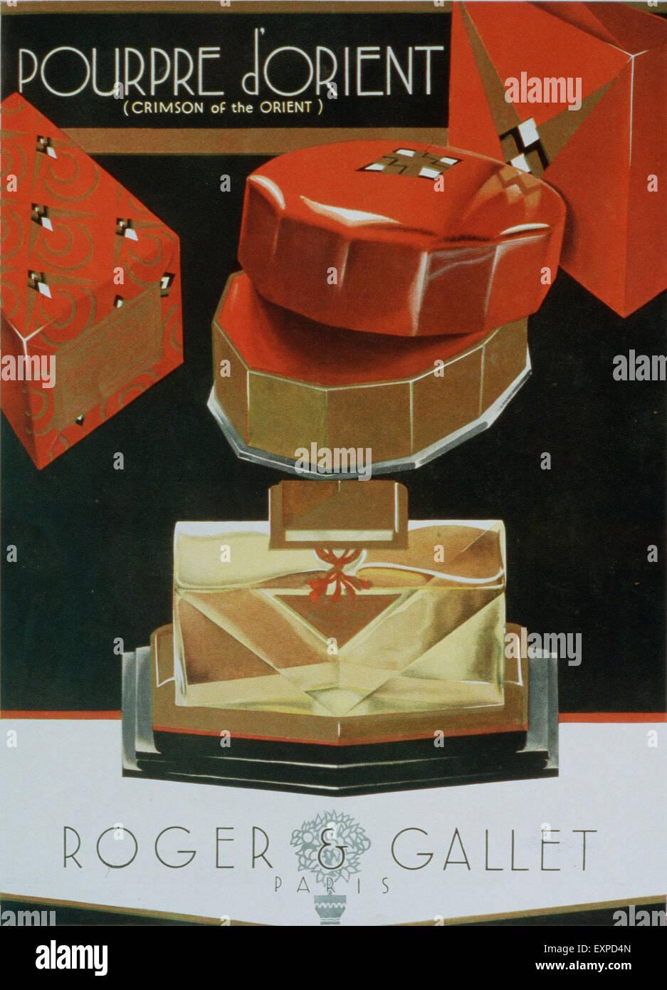 1930 UK Roger Gallet Revista anuncio Foto de stock
