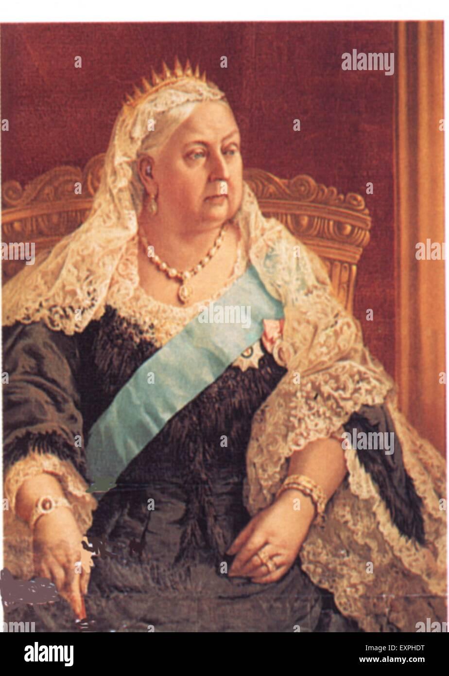 1900 La Reina Victoria del Reino Unido la placa del libro Imagen De Stock